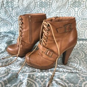 Forever 21 Brown Heel Boots